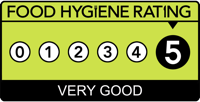 Five Stars rating for The Scores On The Door health check rating system awarded by N. E. Lincolnshire borough council.